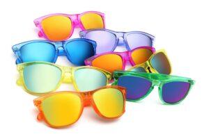 Gafas de sol de diversos colores